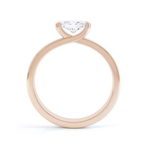 Serenity Sideways Oval Solitaire Diamond Engagement Ring