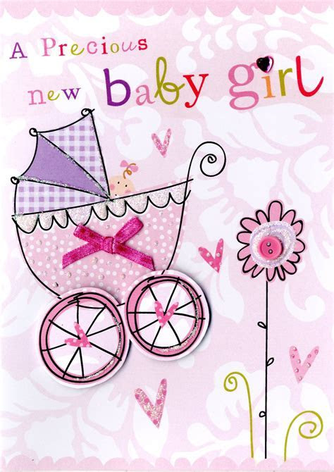 New Baby Girl Greeting Card   Cards