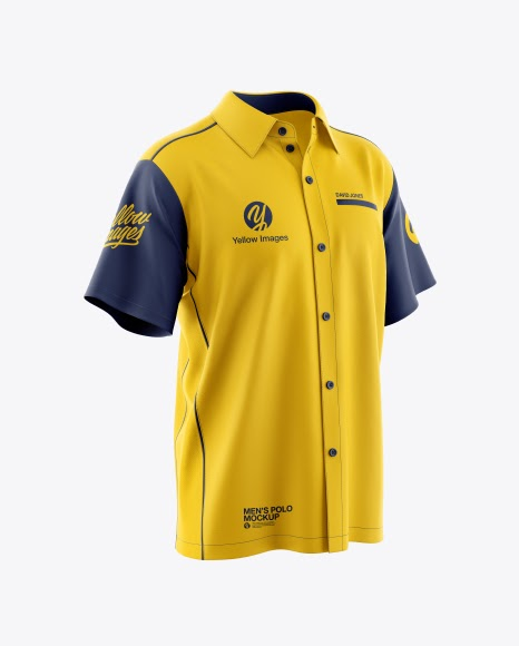 Download Mens Polo Jersey Mockup PSD File 120.55 MB