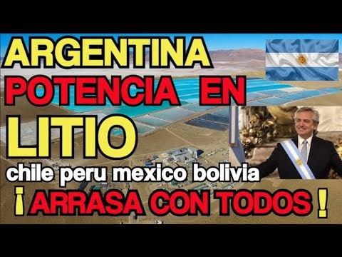 ARGENTINA potencia EN LITIO ARRASA con CHILE PERU BOLIVIA MEXICO ¡impres...