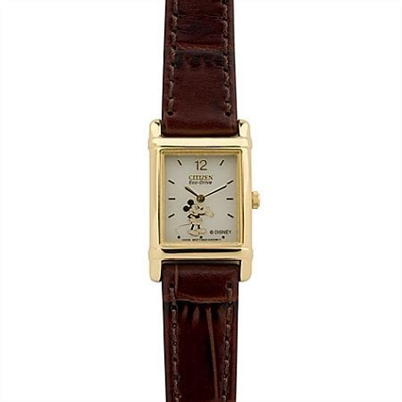 Disney Wrist Watch   Citizen Eco Drive   Brown Leather