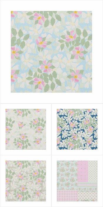 'Rosy Posy' Dog Rose Fabrics