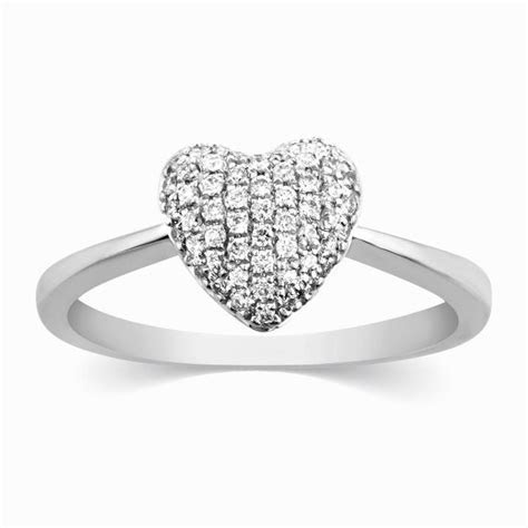 Heart of Love White Gold Ring for Women JL AU 111 ? Jewelove?