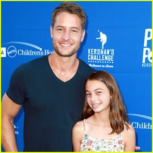 Justin Hartley Brings Daughter Isabella to Charity Ping Pong Tournament!