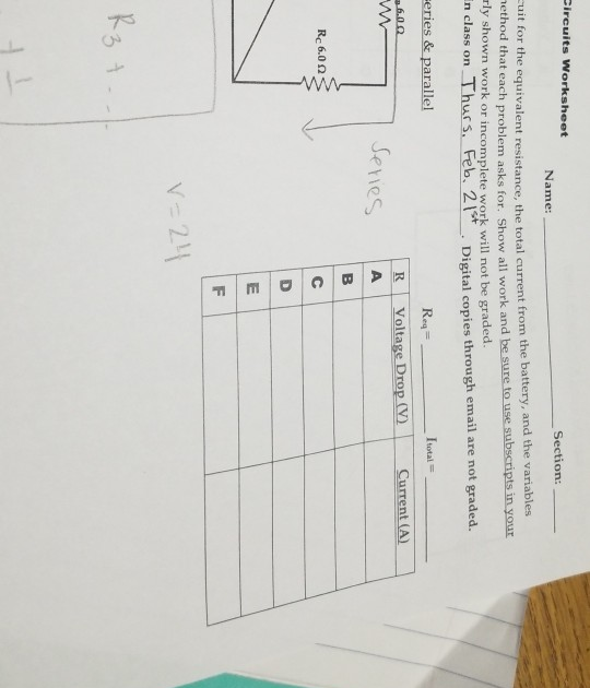 27 Equivalent Resistance Worksheet Answers - Free ...