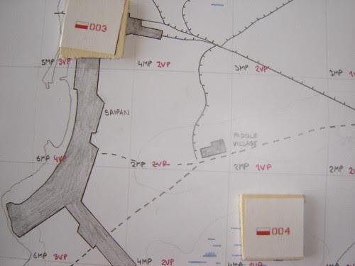 Angaur Campaign Map - Closeup of Saipan