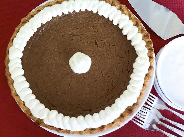 Decorated Pumpkin Pie, Overhead