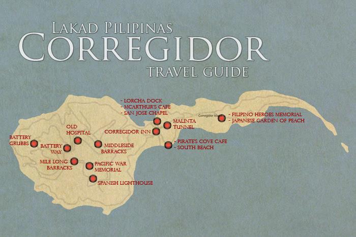 Corregidor Tourist Spot Map