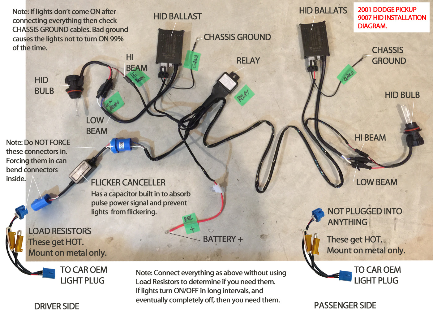 Xenon Hid Conversion Wiring Diagram