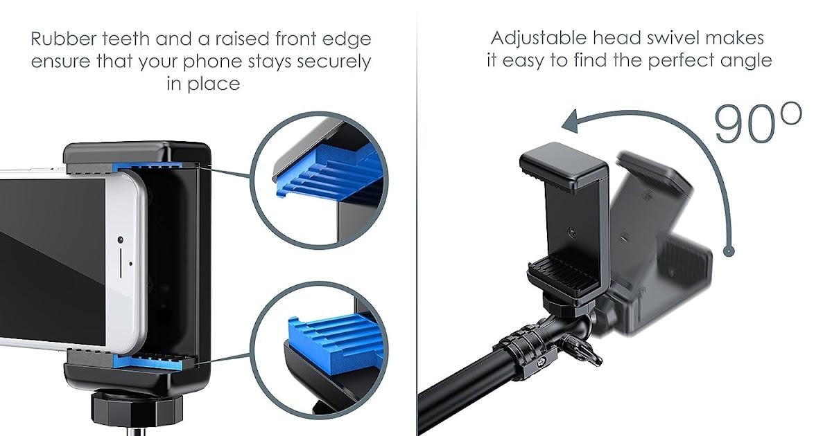 Slimtech Smartvision Anti Flex Monopod Bluetooth Selfie