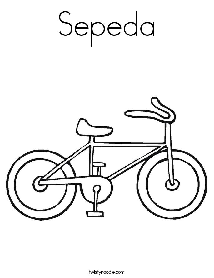 Mewarnai Sepeda Mewarnai R