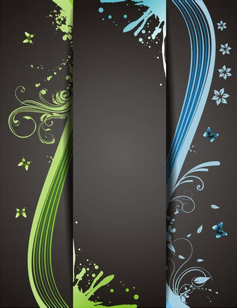 Abstract cover page design free vector download (19,310