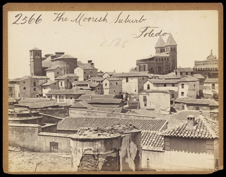 Santiago del Arrabal y Puerta de Bisagra hacia 1860. Fotografía de Francis Frith. © Victoria and Albert Museum, London