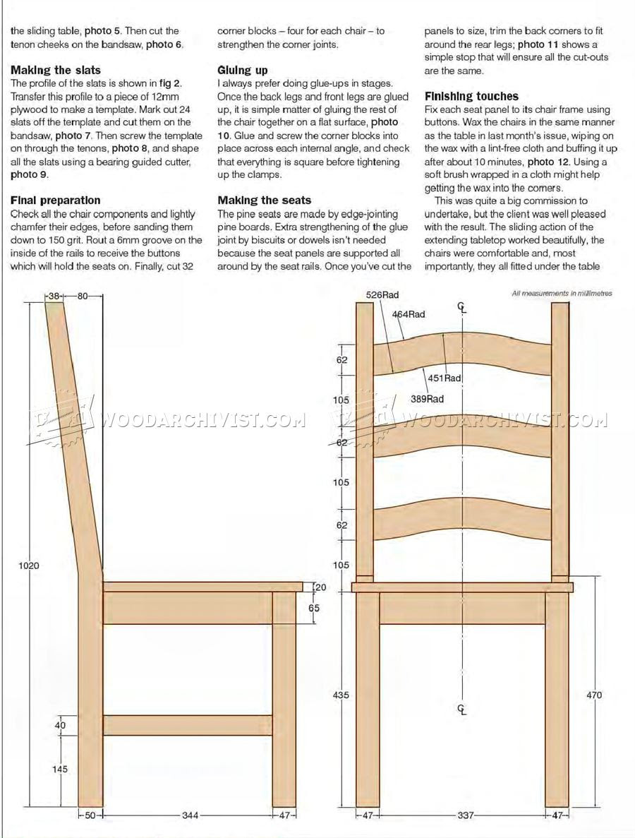 Woodworking Plan Dining Room Chairs ~ woodworking without ...