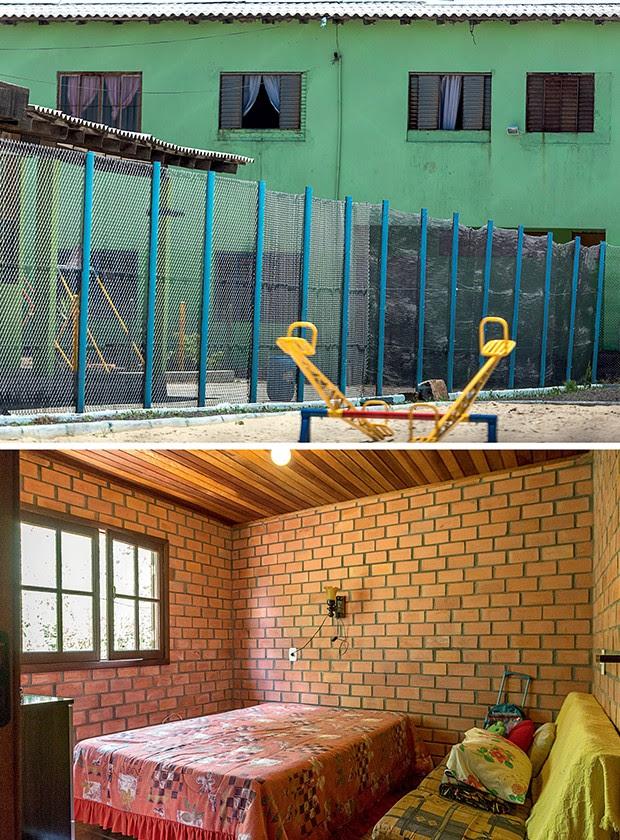 RASTROS Acima, a instituição  em Cachoeirinha, Rio Grande do Sul, que abrigou Belchior. Abaixo, o quarto no sítio  do advogado Jorge Cabral onde ele ficou hospedado (Foto: Ricardo Jaeger/ÉPOCA)