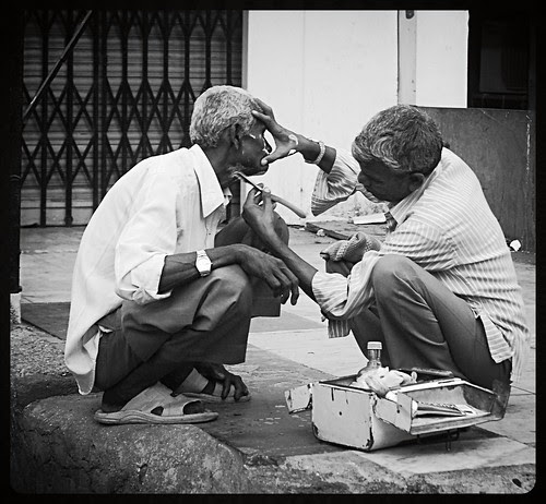 The Street Barber by firoze shakir photographerno1