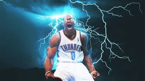 Wallpaper Oklahoma City Thunder, Russell Westbrook