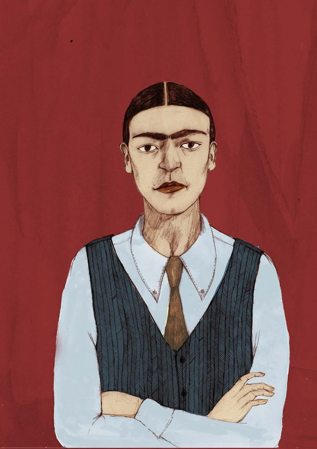 Frida Kahlo 'Androgyny' Limited Edition A4 Giclee Print by Bett Norris