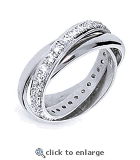 Tiffany Look a like Sterling Silver Triple Roll Ring with