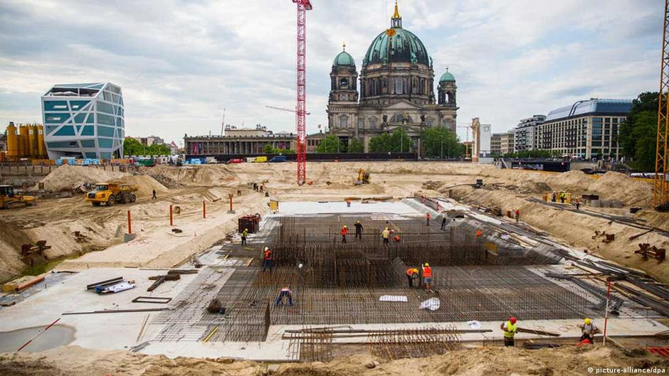 The construction site of the Berlin City Palace