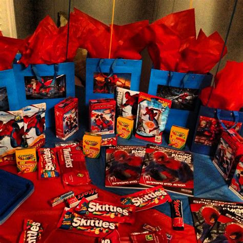 year  sons spider man theme party table