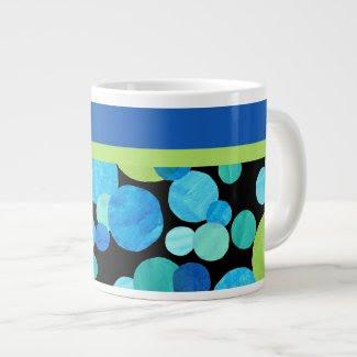 Espresso Mug with Blue Moons Pattern