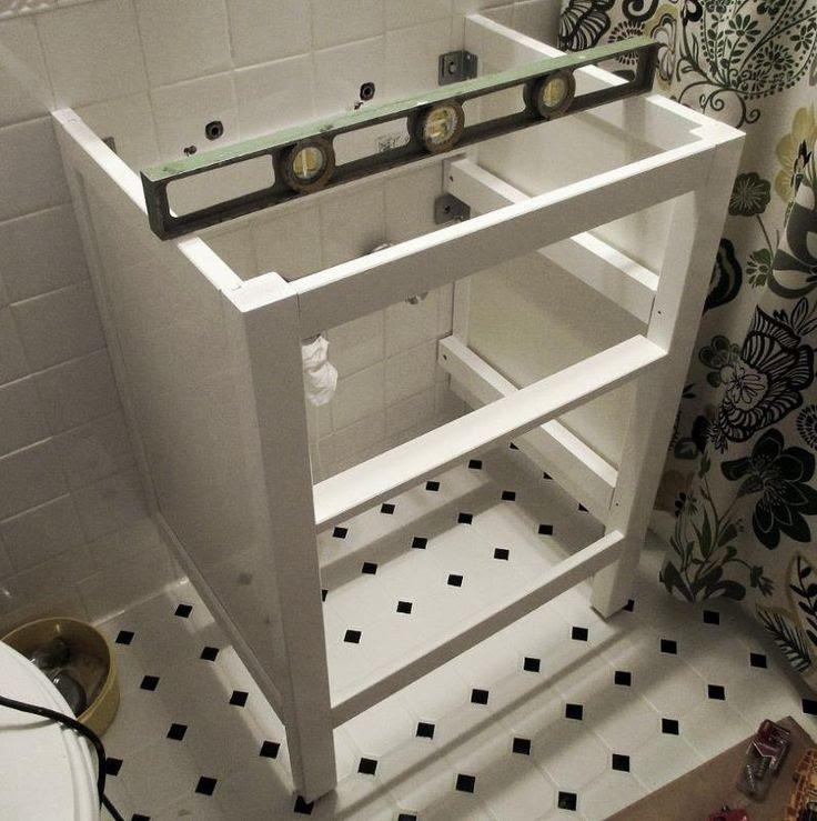 Bathroom Renovation :: How to Install an Ikea Hemnes Sink Cabinet
