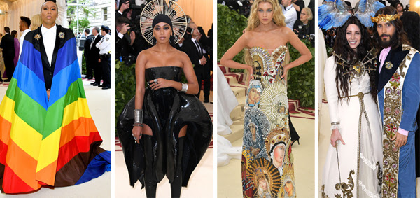 celebrities dressed in scandalous Catholic mocking costumes at the Met Gala