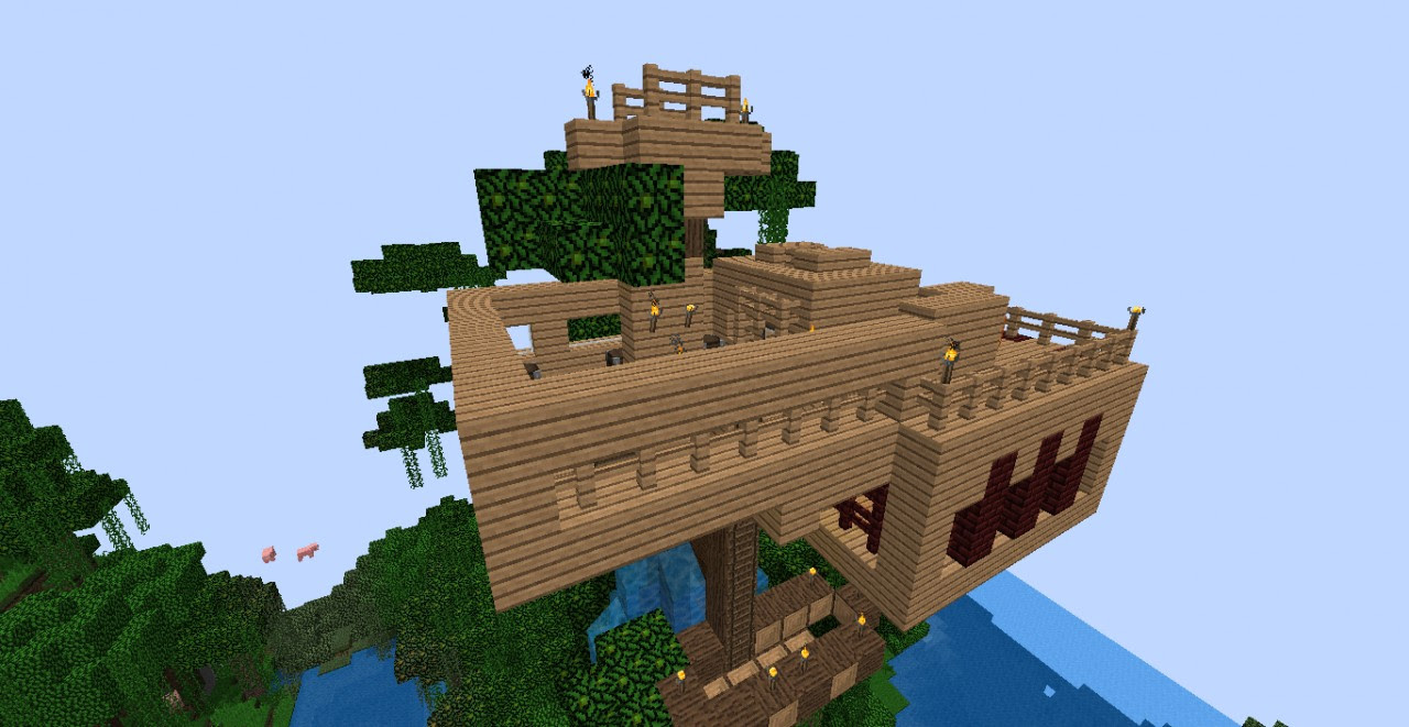 a cool tree house Minecraft Project