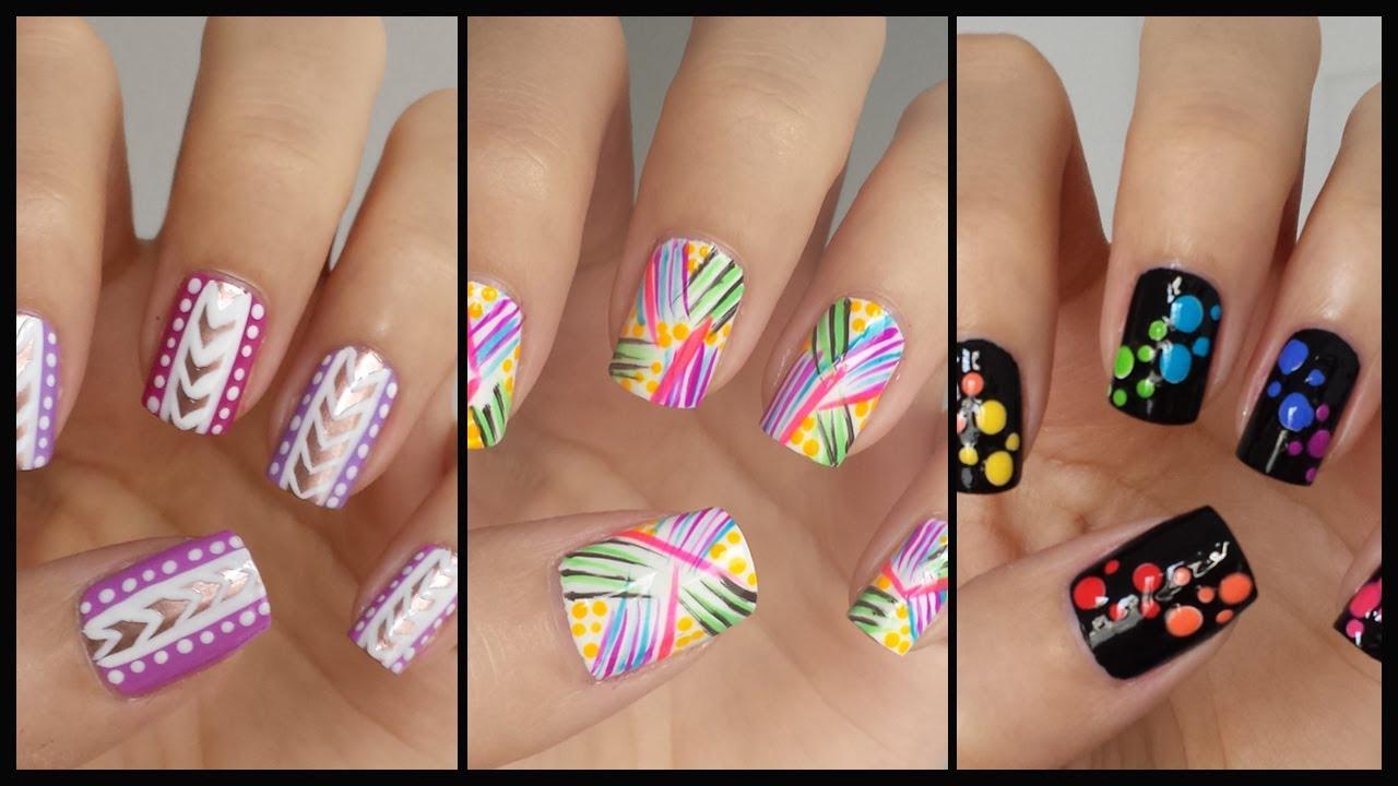 Easy Nail Art For Beginners!!! #13   MissJenFABULOUS - YouTube
