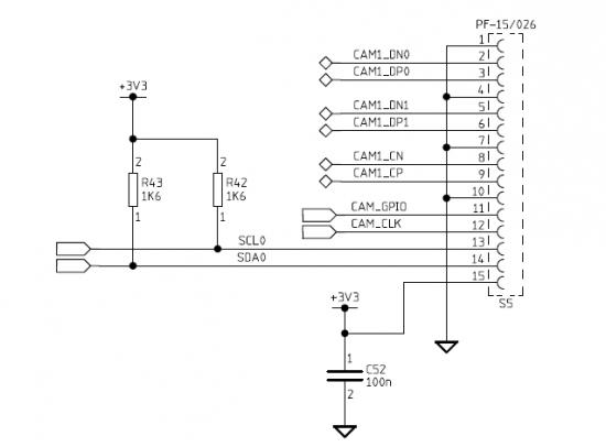 camera  data transmission interface