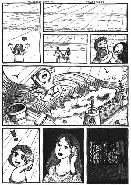 The Shell, comic by Francesca Mancuso, black and white version