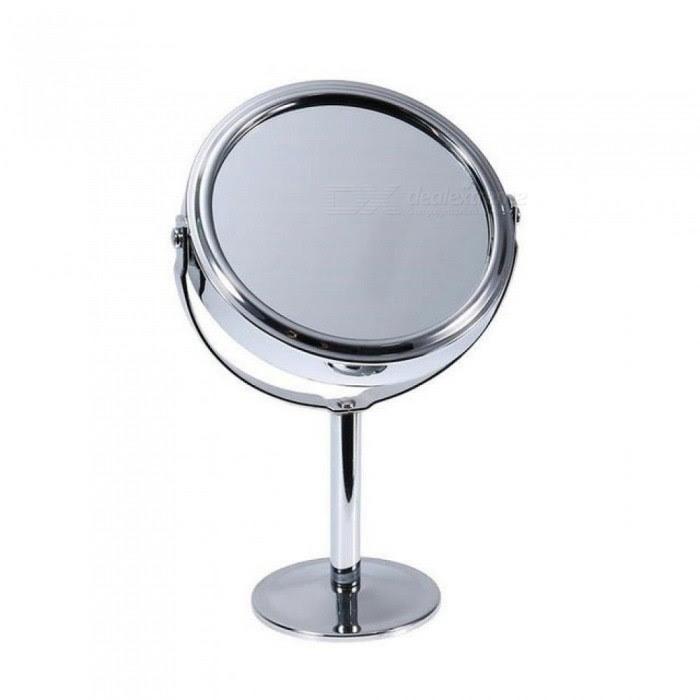 New Double Sided Magnifying Makeup Table Mirror Round Rotary Desk