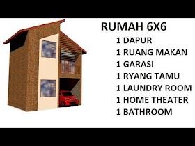 Sketsa Rumah 6x6