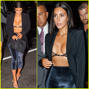 Kim Kardashian Shows Some Skin While Out to Dinner!