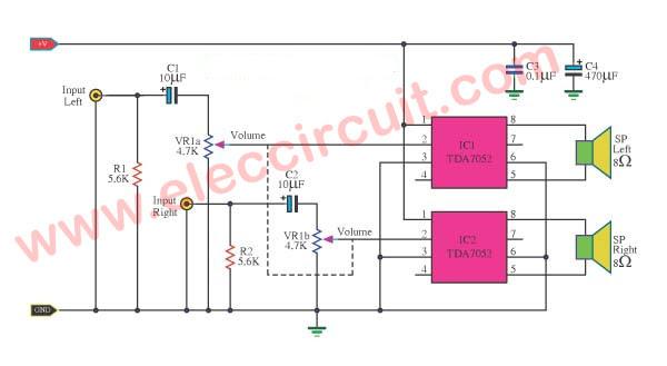 5 Watt Mini Amplifier Circuit