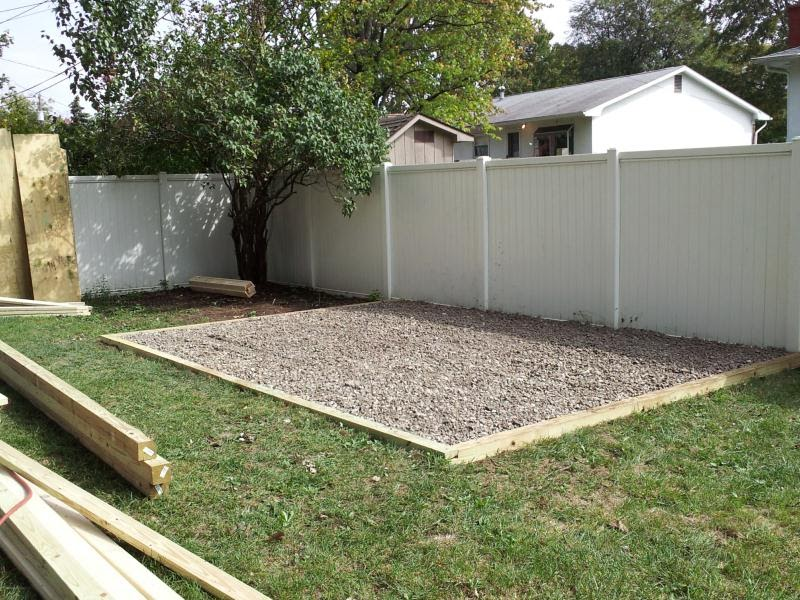 A Similar How To Build A Gravel Base For A Storage Shed
