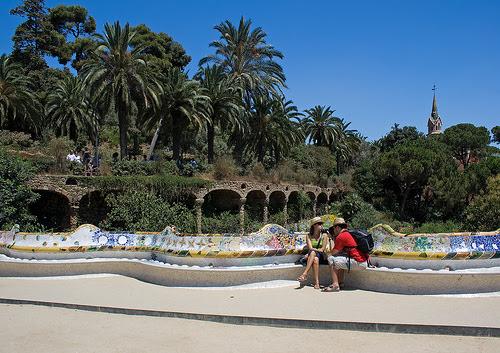 Park Guell, Barcelona, Spain, Antoni Gaudí