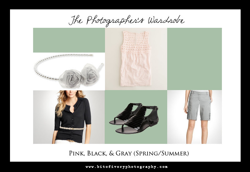 Pink Black and Gray photographers outfit