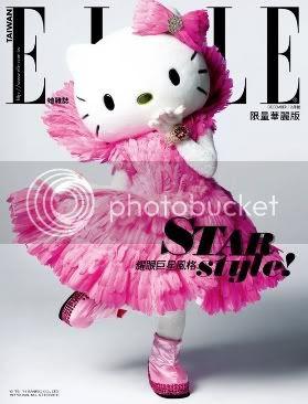 Hello Kitty on Elle Taiwan Cover