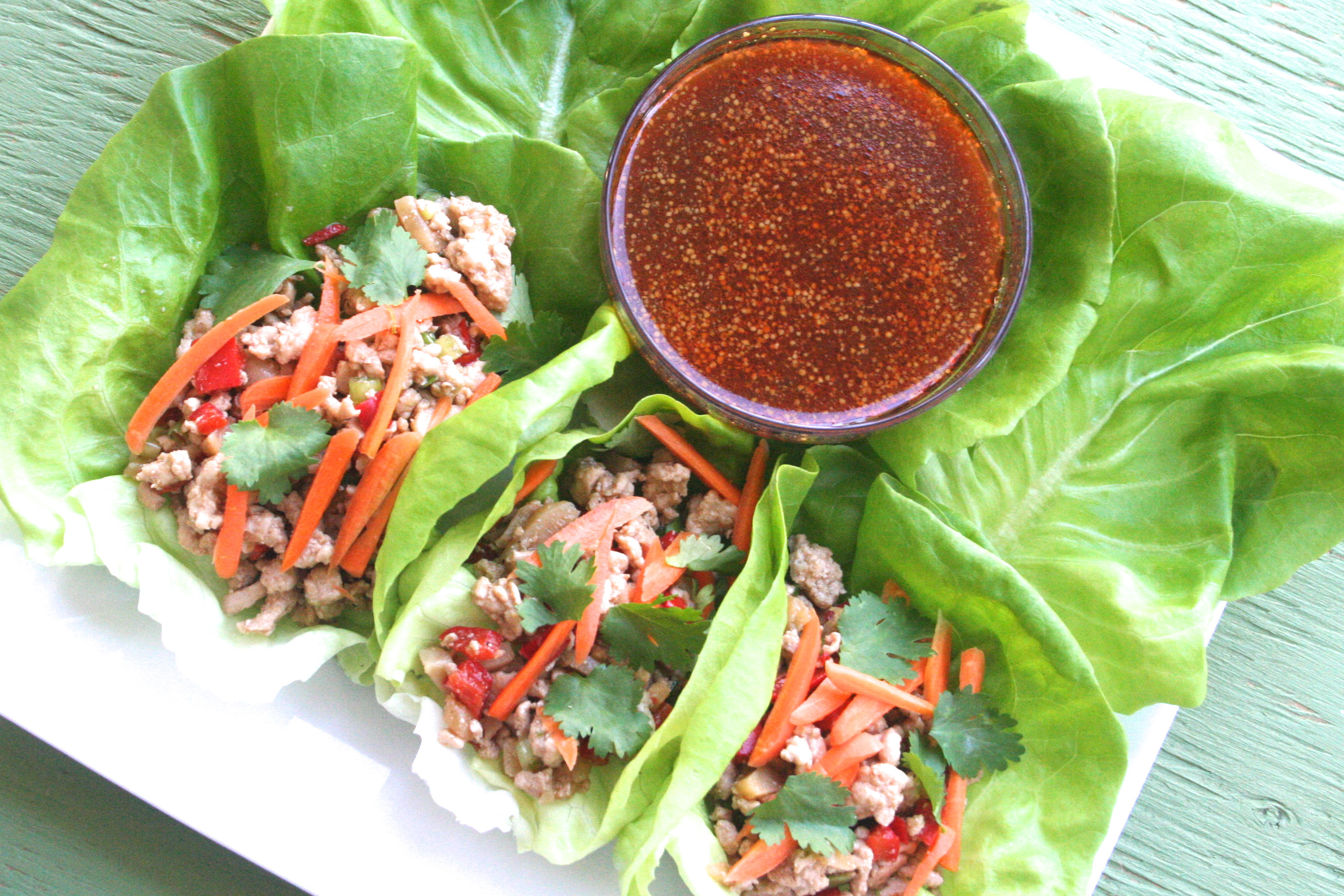 lettuce eat. [ground turkey lettuce wraps w. spicy ...
