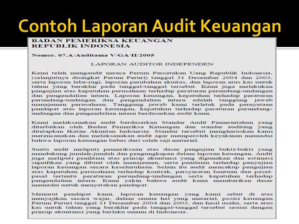 Contoh Laporan Hasil Audit Internal Perusahaan Pdf Seputar Laporan