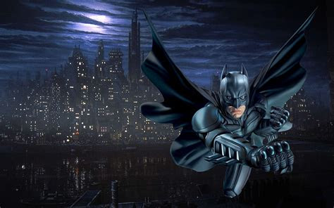 batman gotham city  desktop wallpaper