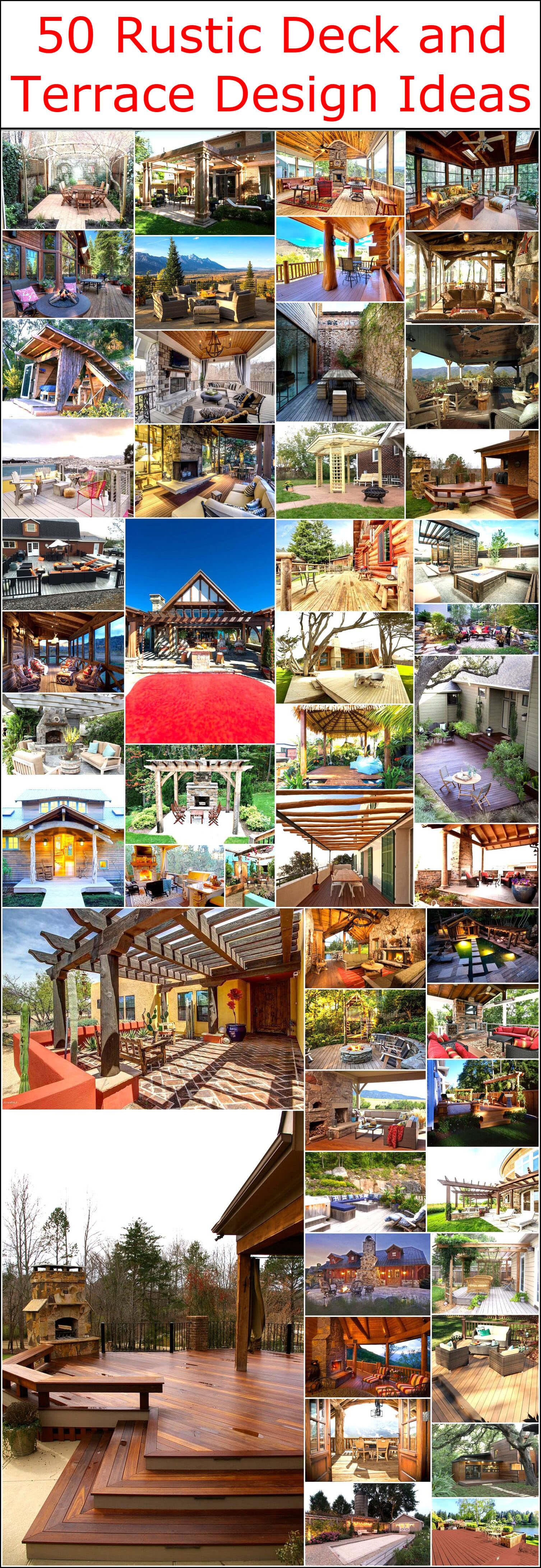 50 Rustic Deck And Terrace Design Ideas Rustic Home Decor And Design Ideas