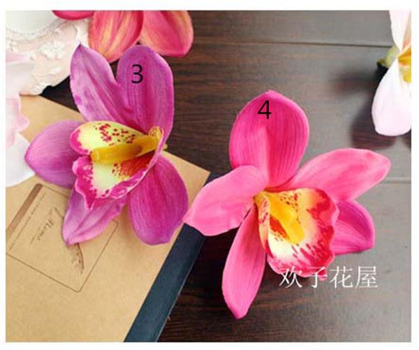 50pcs Hotsale bulk artificial orchid 10cm silk flower