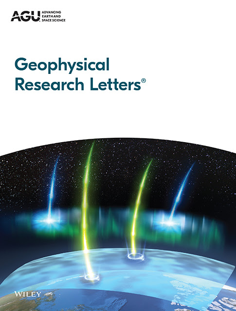 Cover image for Geophysical Research Letters