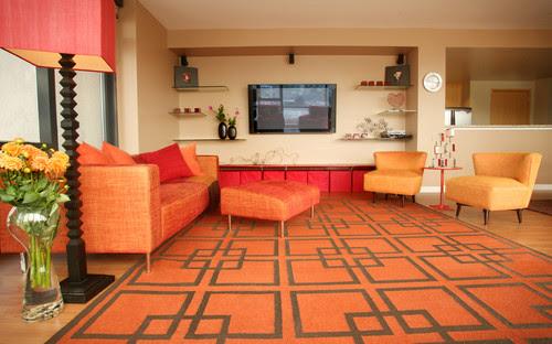 Ballpark Condo contemporary living room