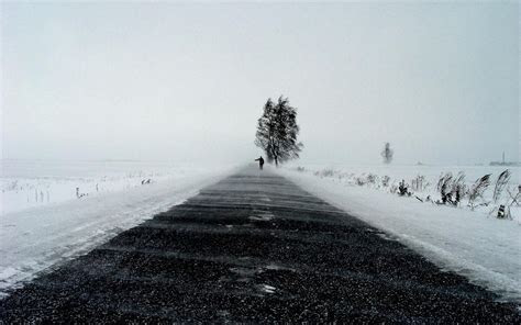 winter road hitchhiker wallpapers winter road hitchhiker