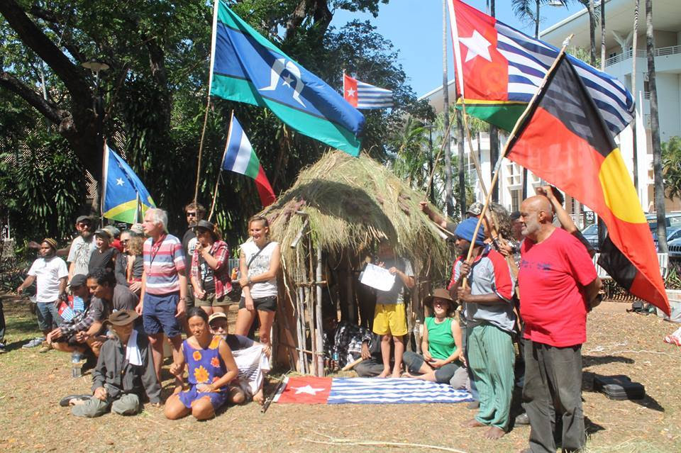 free  west  papua  demonstraiton parliament darwin australia