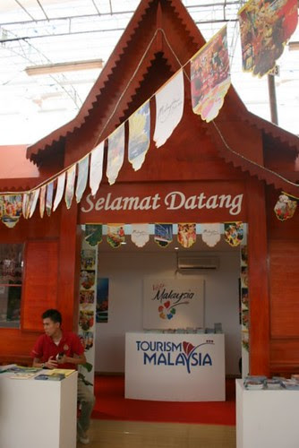 There's even a Visit Malaysia tourism booth!